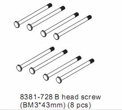 8381-728 B HEAD SCREW 4X43