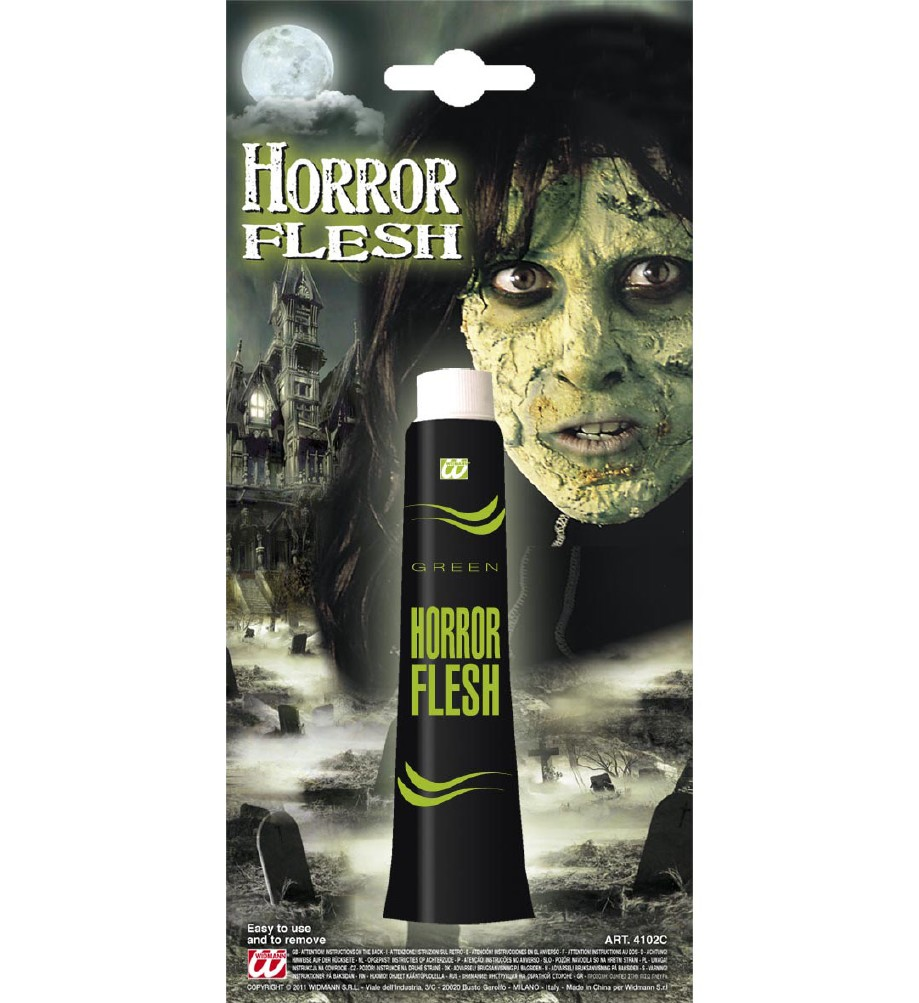 """GREEN HORROR FLESH"" in tube"