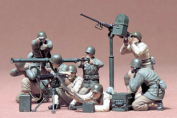 U.S. GUN & MORTAR TEAM  1:35 SKALA