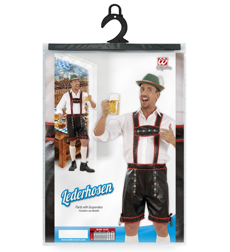 Lederhosen Leatherlook -XL