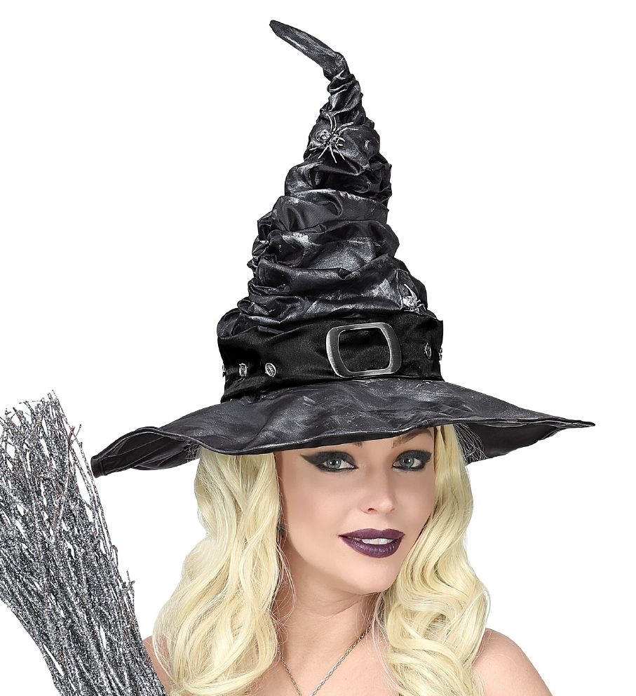 """DELUXE WITCH HAT WITH SPIDERS"""