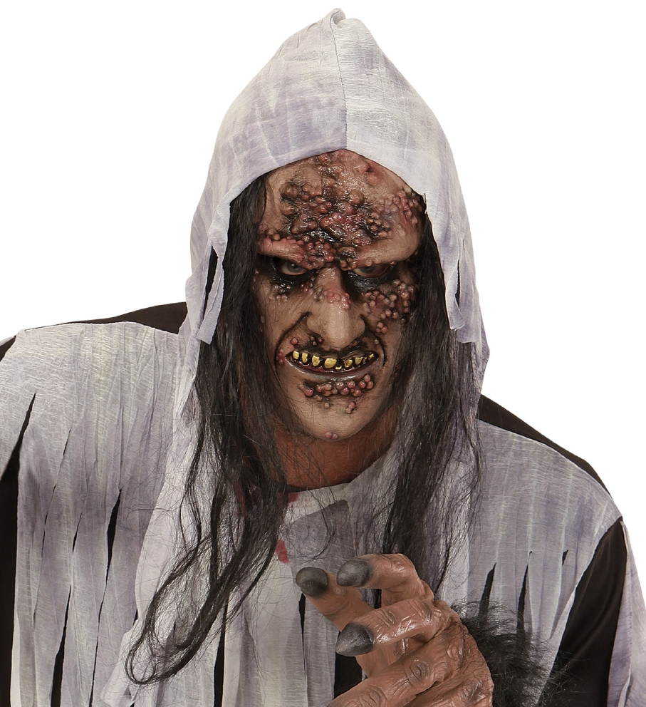 """""""ROTTEN ZOMBIE / WITCH HALF FACE MASK WI"""