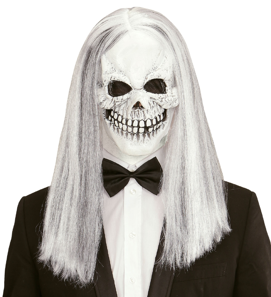 """SKULL MASK WITH WIG"""