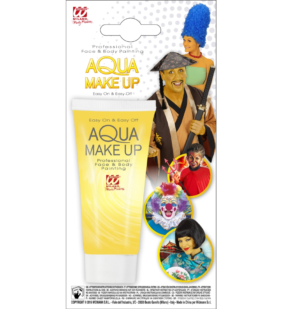 """YELLOW AQUA MAKEUP IN TUBE"" 30 mL"