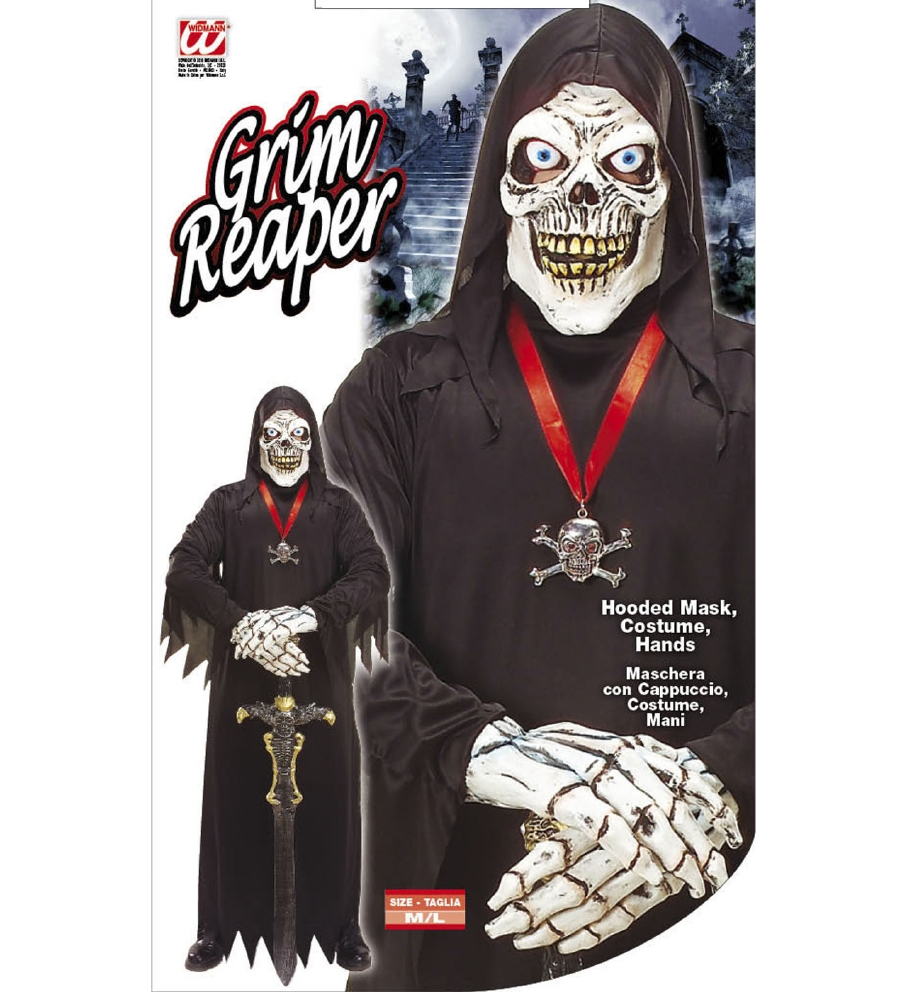 """GRIM REAPER"" (hooded mask, costume, han"