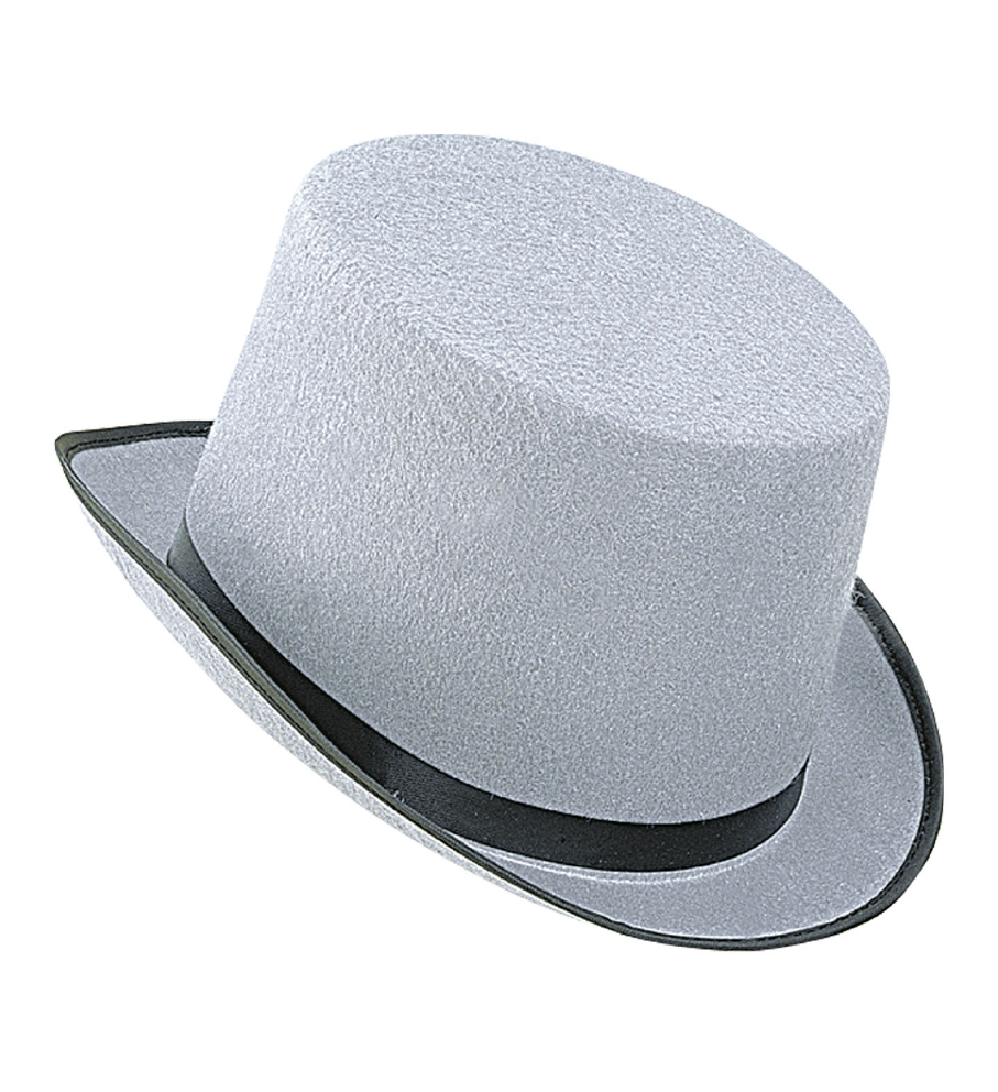 """BIG GREY TOP HAT"" felt"