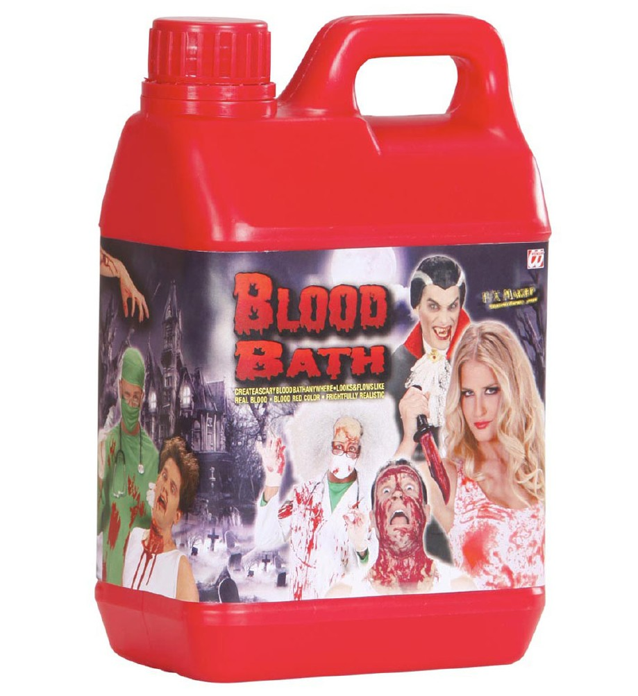 """""""BLOOD BATH"""" jerry can of 1,89 liters of"""
