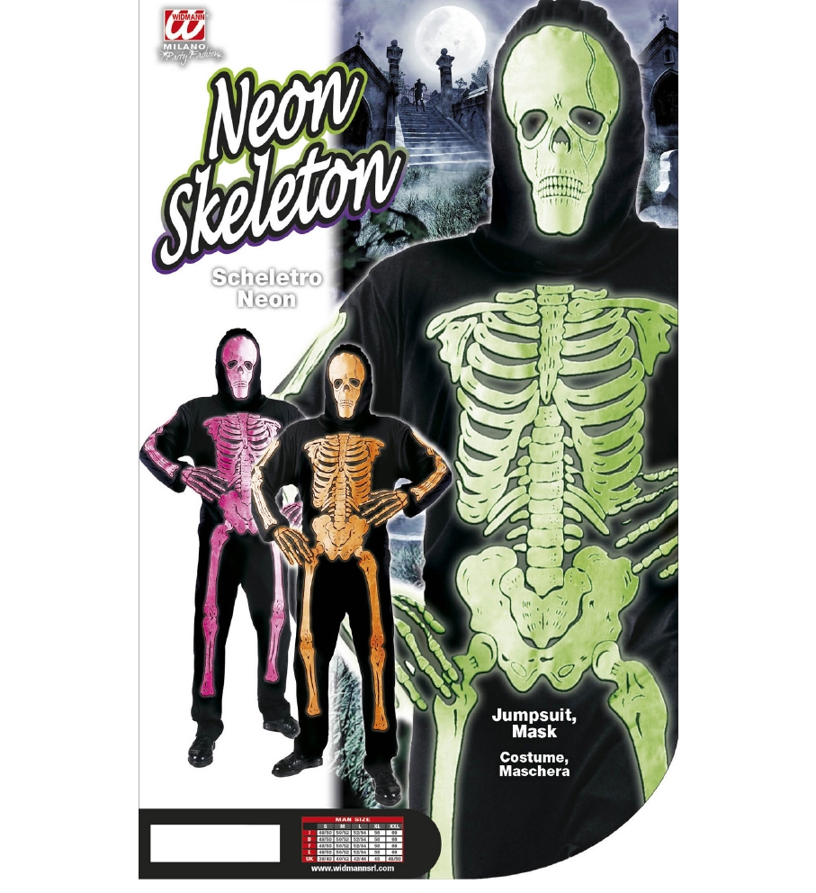 """NEON SKELETON"" 3 colors ass. (jumpsuit,"