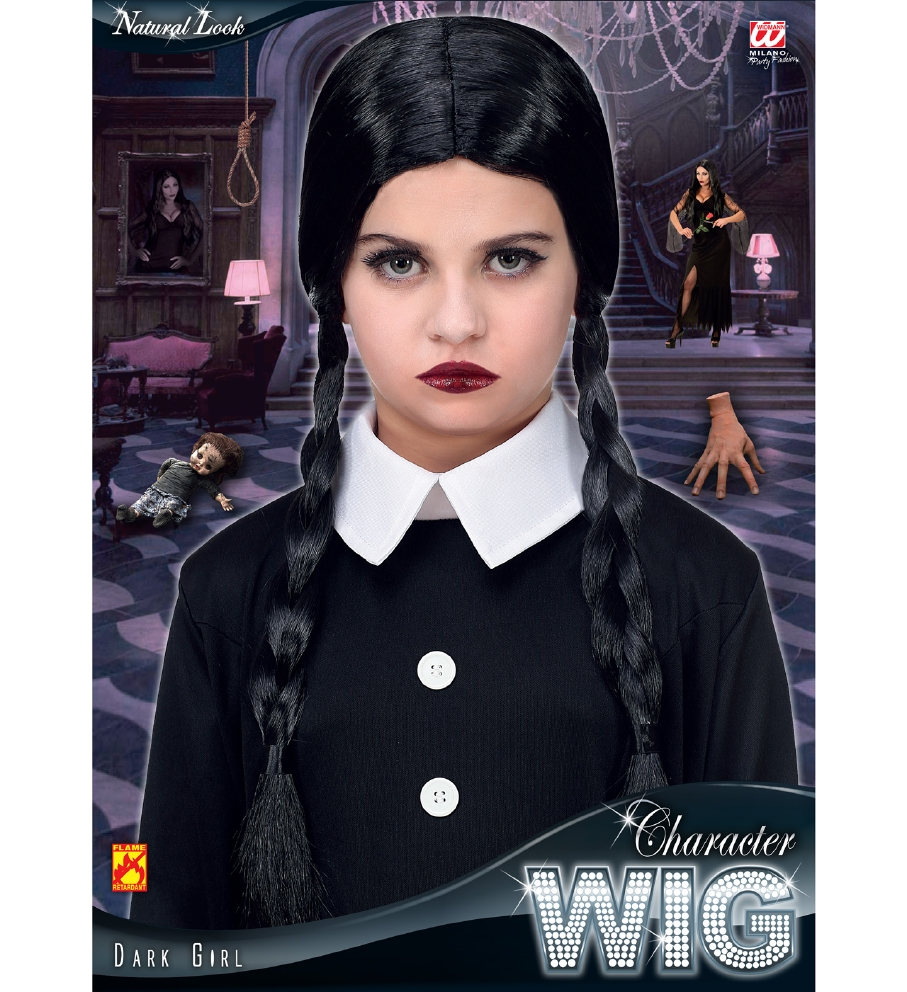 """DARK GIRL WIG"" in polybag"