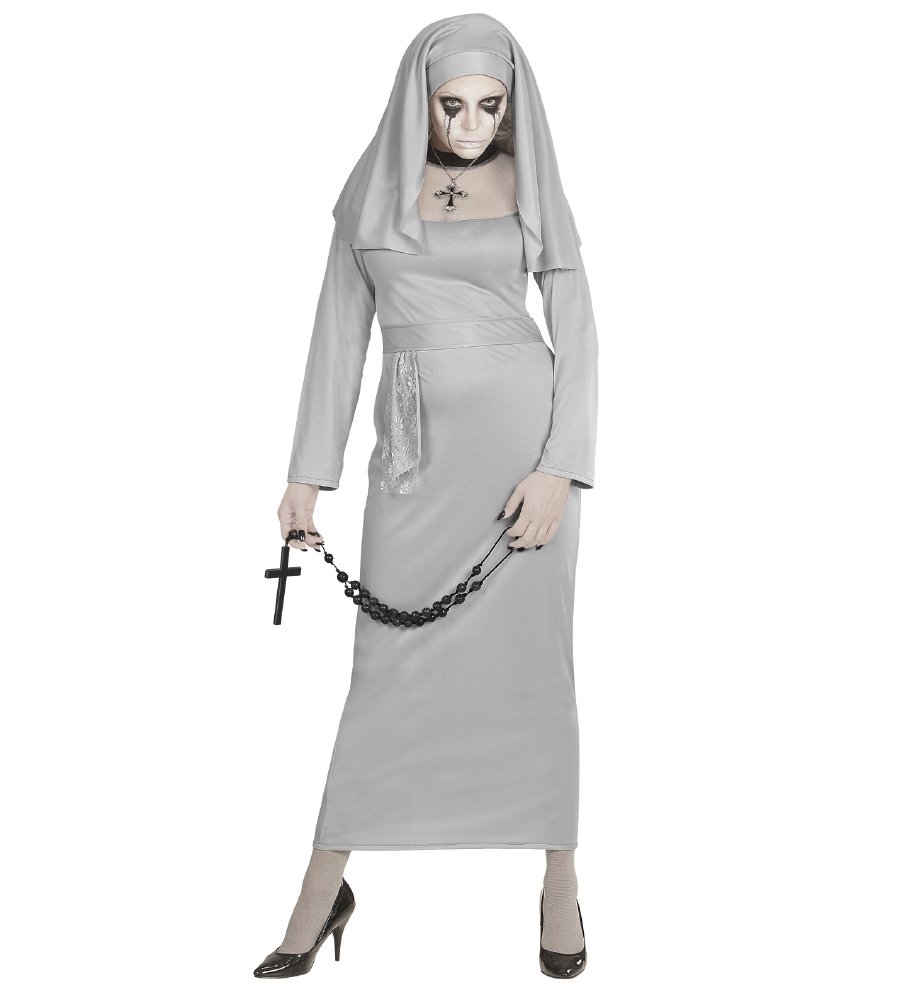 """GHOSTLY NUN"" (dress, headpiece)"