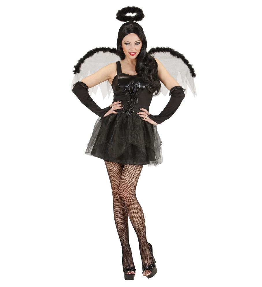 """BLACK ANGEL"" (dress, wings, fingerless"