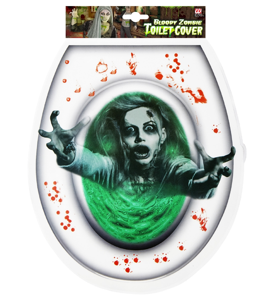 """""""BLOODY ZOMBIE TOILET COVER"""""""