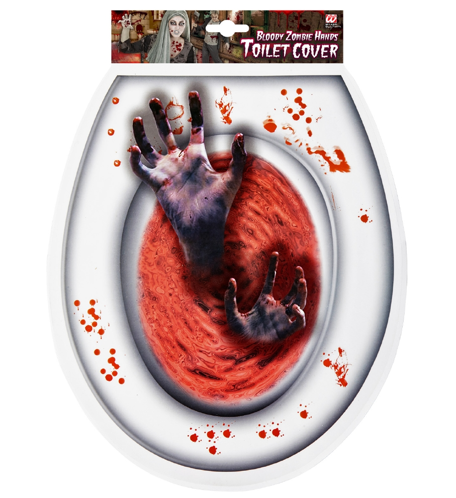 """""""BLOODY ZOMBIE HANDS TOILET COVER"""""""