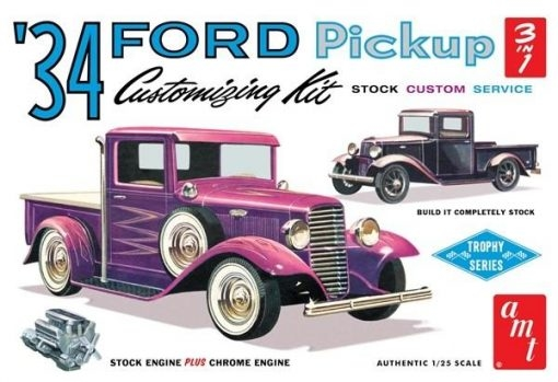 34 FORD PICKUP STOCK/CUSTOM 1/25