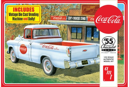 55 CHEVROLET PICKUP COCA COLA 1/25