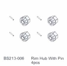 12MM HEX/W PIN