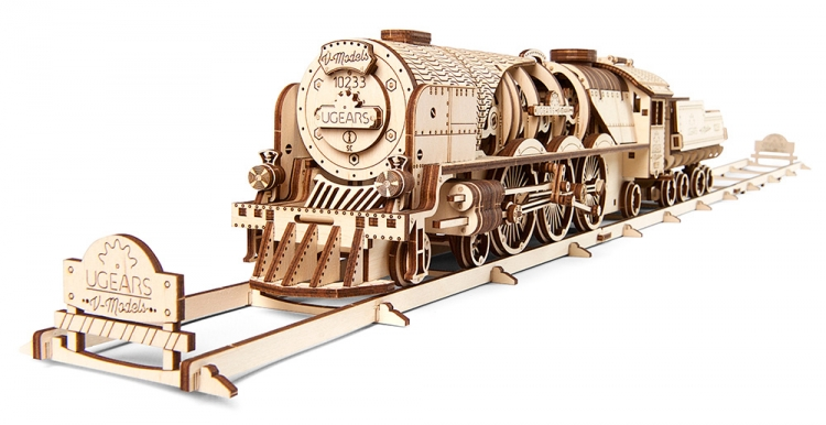 UGEARS  V-EXPRESS STEAM TRAIN (538PCS)